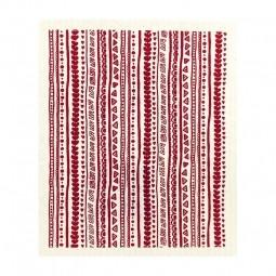 More Joy Červený vzor- utierka
