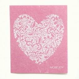 More Joy Ružové srdce - utierka