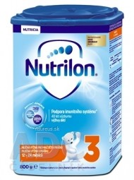 Nutrilon 3 batoľacia mliečna výživa v prášku (12-24 mesiacov) (inov.2018) 1x800 g