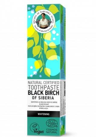 RBA Prírodná certifikovaná zubná pasta - Čierna sibírska breza - Bieliaca