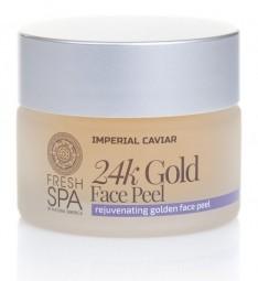 Zlatý omladzujúci pleťový peeling 24K Zlato na tvár *Imperial Caviar*