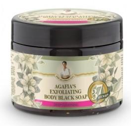 Agafja exfoliačné telové čierne mydlo