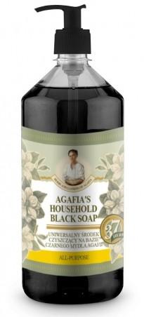 Agafja viacúčelové čierne mydlo do domácnosti