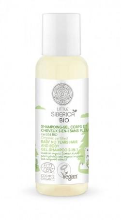 Little Siberica - cestovné balenie -  2v1 Bez sĺz detský gél-šampón na vlasy a telo