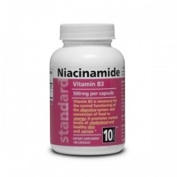 Vitamín  B3, Niacinamid 500 mg, 100 kapsúl
