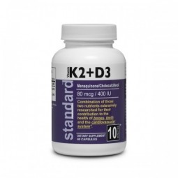 Vitamín K2 + D3 - MK7 80mcg/400 IU - 60 kpsl