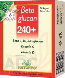 NATURES Betaglucan 240+ cps 1x30 ks
