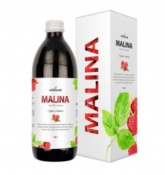 MALINA (100 % šťava z plodov maliny s prídavkom vitamínu C 500 ml)