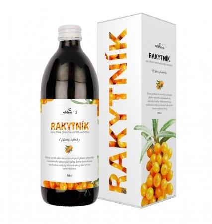 RAKYTNÍK (100 % šťava z rakytníka rešetliakového s prídavkom vitamínu C 500 ml)