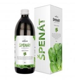 ŠPENÁT (100 % šťava zo špenátu siateho s prídavkom vitamínu C 500 ml)