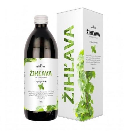 ŽIHĽAVA (100 % šťava z listov žihľavy dvojdomej s prídavkom vitamínu C 500 ml)