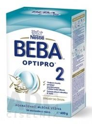 BEBA OPTIPRO 2 (modrá, inov. 2019) následná mliečna výživa (od ukonč. 6.mesiaca) 1x600 g