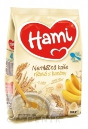 Hami nemliečna kaša ryžová s banánmi prvá lyžička (od ukonč. 4. mesiaca) 1x180 g