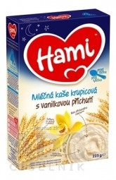 Hami mliečna kaša krupicová s vanilkovou príchuťou