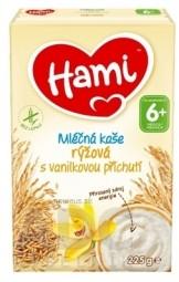 Hami mliečna kaša ryžová s vanilkovou príchuťou (od ukonč. 6. mesiaca) (inov.2020) 1x225 g