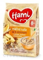 Hami mliečna kaša so 7 obilninami s jablkom, banánom a pomarančom (od ukonč. 8. mesiaca) 1x210 g