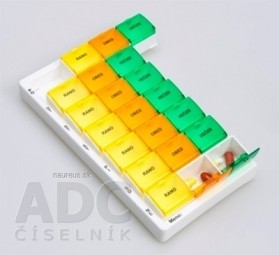 Dávkovač liekov typ 03 týždenný farebný 1x1 ks