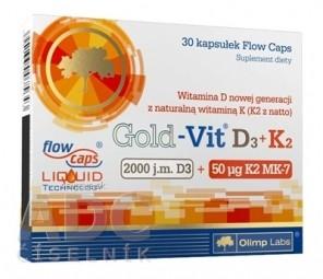 Gold-Vit D3+K2 cps 1x30 ks