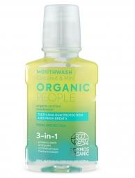 Organic People - 3v1 prírodná certifikovaná ústna voda - Kokos a mäta