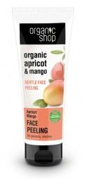 Organic Shop - Marhuľa & Mango - Jemný peeling na tvár 75 ml