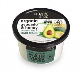 Organic Shop - Med & Avokádo - Maska na vlasy 250 ml