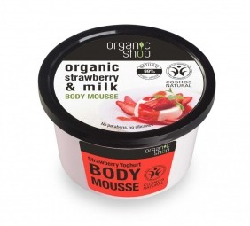 Organic Shop - Jahoda & Jogurt - Telová pena 250 ml