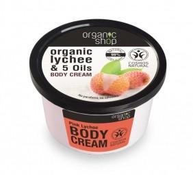 Organic Shop - Ružové Liči - Telový krém 250 ml