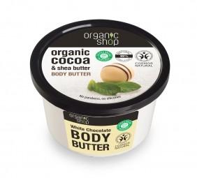 Organic Shop - Biela čokoláda - Telové maslo 250 ml