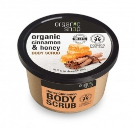 Organic Shop - Med & Škorica - Telový peeling 250 ml