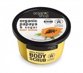 Organic Shop - Papája - Telový peeling 250 ml