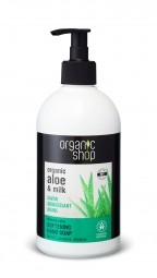 Organic Shop - Barbadosské Aloe - Mydlo na ruky 500 ml