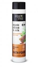 Organic Shop - Vyživujúca pena do kúpeľa Čokoládové mlieko 500 ml