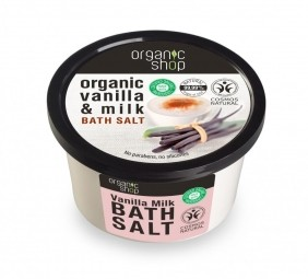 Organic Shop - Vanilka a mlieko - Soľ do kúpeľa 250 ml