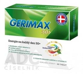 GERIMAX 50+ tbl (ženšen, horčík, vitamín D) 1x80 ks