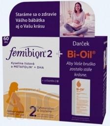 Femibion 2 Kys. listová a METAFOLIN+DHA+VIT.D3 DUOPACK (2x30 tbl + 2x30 cps), na 60 dní + darček (Bi-Oil 1x25 ml), 1x1 set