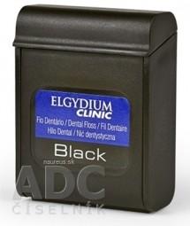 ELGYDIUM CLINIC Black voskovaná dentálna niť s fluoridom, 50 m, 1x1 ks