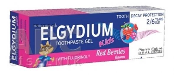 ELGYDIUM KIDS gélová zubná pasta s fluorinolom pre deti (2-6 rokov) s príchuťou lesného ovocia 1x50 ml
