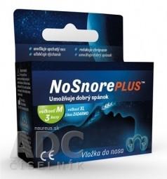 NoSnorePLUS silikónová vložka do nosa: veľkosť M 3 ks + veľkosť XL 1 ks ZADARMO, 1x1 set