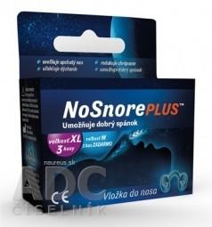 NoSnorePLUS silikónová vložka do nosa: veľkosť XL 3 ks + veľkosť M 1 ks ZADARMO, 1x1 set
