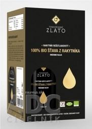 T.ZLATO 100 % BIO ŠŤAVA Z RAKYTNÍKA vrátane oleja 4x185 ml (740 ml)