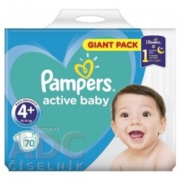 PAMPERS active baby Giant Pack 4+ MaxiPlus