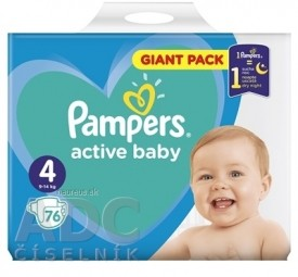 PAMPERS active baby Giant Pack 4 Maxi