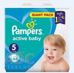 PAMPERS active baby Giant Pack 5 Junior detské plienky (11-16 kg)(inov.2018) 1x64 ks