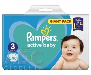 PAMPERS active baby Giant Pack 3 Midi