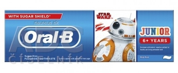 Oral-B JUNIOR Mild Mint Star Wars detská zubná pasta (od 6 rokov) 1x75 ml