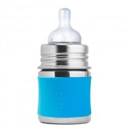 Pura® nerezová dojčenská fľaša 150ml - Aqua