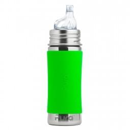 Pura® nerezová fľaša s náustkom 325ml - Zelená