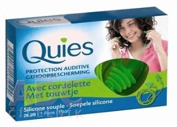 Quies Silikónové chrániče sluchu so šnúrkou