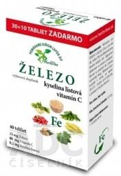 HerbVitea ŽELEZO, kyselina listová, vitamín C