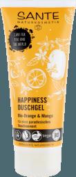 HAPPINESS sprchový gél BIO pomaranč a mango